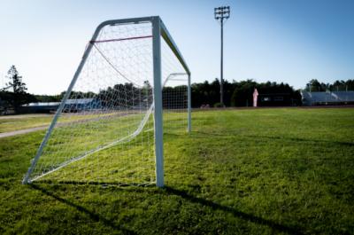 soccer goal net and field